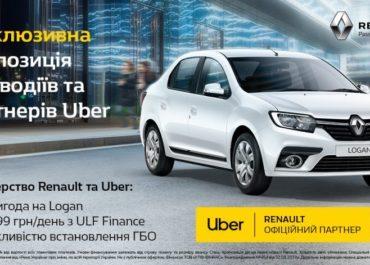Лизинг программа «Эксклюзивно для Uber от Renault»